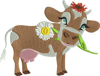 Daisy the Cow-Cow embroidery, Cows, machine embroidery, embroidery, Cows embroidery