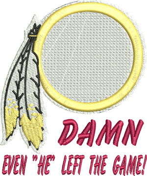 Damn Redskins-Redskins, Washington, football, machine embroidery, embroidery designs