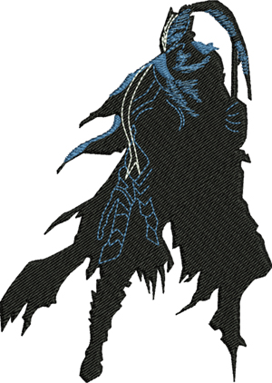 Dark Knight-Knight, dark,souls,machine embroidery, games