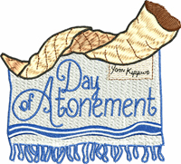 Day of Atonement-Judaism, atonement, day of, Jewish holiday, holy day, religious embroidery, machine embroidery