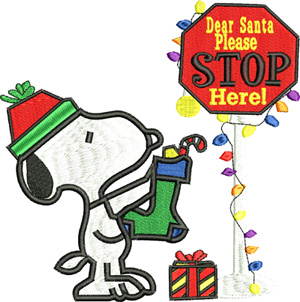 Dear Santa-Santa, Clause, Dear Santa, snoopy, Christmas, Holiday, machine embroidery