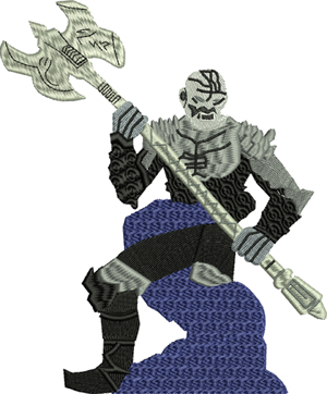 Death Giant-Giant, Death Giant, Dungeons, dragons, machine embroidery, embroidery designs