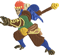 Defender of Ancients-Defender of Ancients, game characters, machine embroidery, embroidery, figures