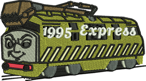 Diesel-Diesel, train, Thomas, machine embroidery, childrens embroidery, toys
