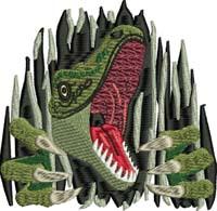 Dinosaur surprise-Dinosaur, machine embroidery, Cool dinosaur, dinosaurs, dinosaur embroidery