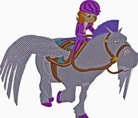 Dora Horse Back Riding-Dora, horse back riding, Dora the explorer, Dora embroidery, machine embroidery, childrens embroidery, girls embroidery