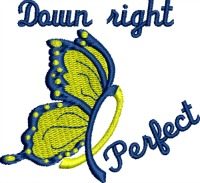 Down right perfect-Downs syndrome awareness ribbon downs syndrome ribbon awareness ribbons butterfly down syndrome embroidery machine embroidery awareness embroidery stitchedinfaith.com