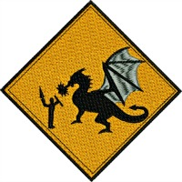 Dragon Slayer-Dragon slayer dragon embroidery machine embroidery mystical dragon stitchedinfaith.com