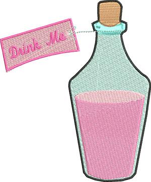 Drink me bottle-Drink me, bottle, alice, wonderland, machine embroidery