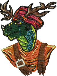 Druid-Druid, machine embroidery, dragon, creature, games