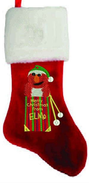Personalized Elmo Christmas Stocking-STOCKING CHRISTMAS STOCKING ELMO CHILDS STOCKING CHRISTMAS
