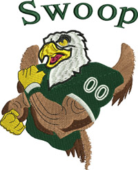 Eagles Swoop-Eagles, Swoop, football, sports, machine embroidery
