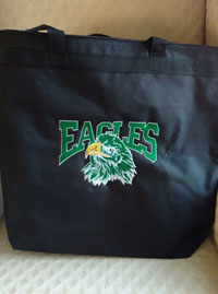 Eagles New logo embroidered tote-Eagles new logo embroidered bag, embroidered tote, eagles tote, embroidered bags, embroidered totes, beach bags