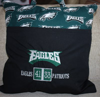 Eagles score board reading pocket pillow