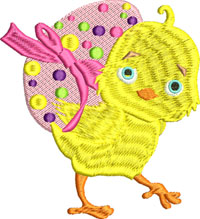 Easter Chick-Easter embroidery, Easter Chick, machine embroidery, baby chick, Easter