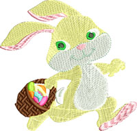 Easter baby rabbit-Easter embroidery, baby rabbit, Easter rabbit, machine embroidery, Holiday embroidery