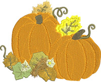 Fall Pumpkins-Pumpkin, Pumpkins, Fall, machine embroidery,embroidery designs, fruit,season