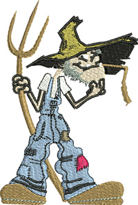 Farmer John-Farmer embroidery, machine embroidery, farm embroidery, farm, pitch fork,farming