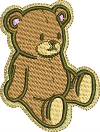 Favorite Teddy Bear-Teddy bear embroidery childs teddy bear bear machine embroidery animals Stitchedinfaith.com