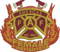 Female Fire Fighers logo-Fire fighter fire Female fire fighter fire badge female fire badge female fire logo machine embroidery