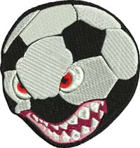 Ferocious soccer-Ferocious soccer, machine embroidery, soccer, sports, embroidery