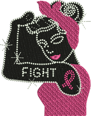 Fight breast cancer-Breast, Cancer, machine embroidery, Fight, embroidery, awareness, ribbons
