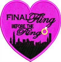 Final Fling-Bachlorette Bachlorette party wedding engagement machine embroidery bridal party stitchedinfaith.com