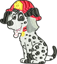 Firefighter Dalmatian-Dalmatian, firefighter, dog,  dogs, animal embroidery, dog embroidery