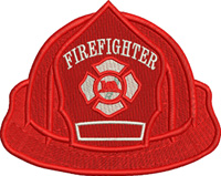 Firemans Hat-fireman embroidery, Firemans hat, machine embroidery, occupational embroidery, Fire Man,