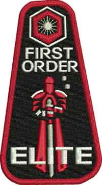 First order elite trooper-Trooper, star, wars, first order, elite trooper, machine embroidery