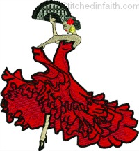 Flamingo Dancer-Flamingo Dancer, Dancer embroidery, Flamingo Dancer embroidery, Machine embroidery, machine embroidery designs, stitchedinfaith.com, Dancing embroidery,Dance embroidery