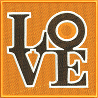 Flyers Love-Flyers hockey, machine embroidery, hockey embroidery, Flyers
