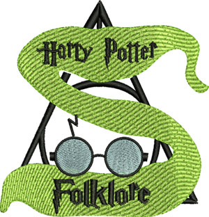 Folklore Harry Potter-Folklore, Harry, Potter, machine embroidery,kids embroidery, favorites