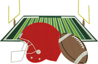 Football game-Football, machine embroidery, football field, teams, sports,