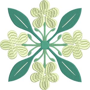 Four blooms-Quilt, Quilt square, blooms, four blooms quilt, machine embroidery, quilt embroidery
