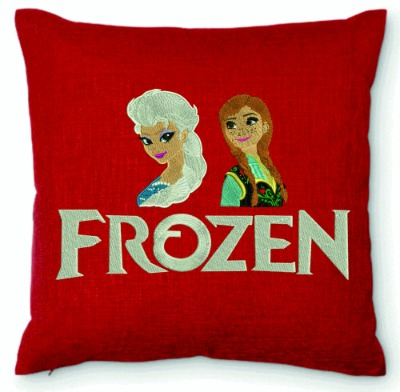 Frozen embroidered pillow-Embroidered pillows frozen pillow elsa anna pillows