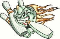Furious Bowling Ball And Pins-Bowling ball bowling bowling ball and pins machine embroidery designs embroidery stitchedinfaith.com