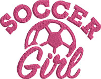 Girl Soccer-Girls Soccer, Girls soccer, Soccer Girl, machine embroidery, soccer embroidery, sports embroidery