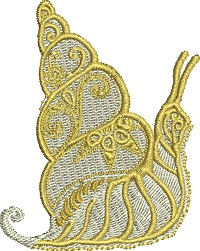Golden Snail-snail machine embroidery golden snail