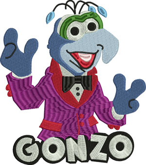 Gonzo-Gonzo, muppets,children embroidery, baby embroidery, machine embroidery