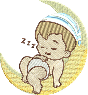 Goodnight moon-Baby,machine embroidery, goodnight, moon, infant, shower,embroidery