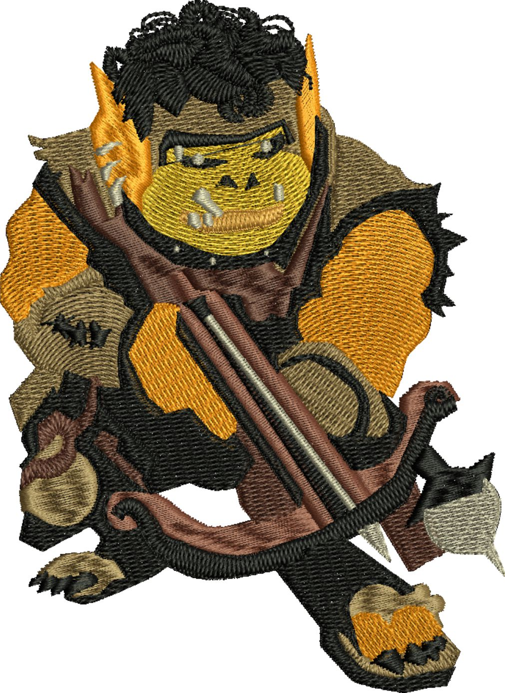 Goonalan-Goonalan, dungeons, dragons, games, machine embroidery