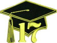 Graduation cap 19-Graduation cap,machine embroider, Graduation , cap and tassel embroidery,graduation embroidery