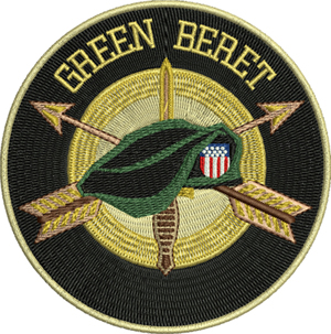 GREEN BERET-Green Beret, military, machine embroidery, embroidery, arm forces, USA