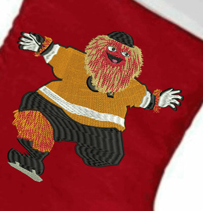 Personalized Gritty Christmas Stocking-Personalized stockings, Free name, Christmas stockings, Gritty stocking, hockey stocking, stockings