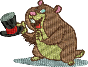 Ground hog-Ground hog, animals, rodents, machine embroidery