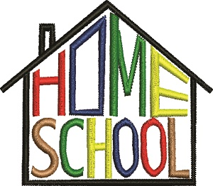 Home School House Machine Embroidery 2 Designs-Home school school machine embroidery sewing