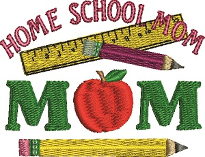 Home School Mom Machine 2 Embroidery Designs