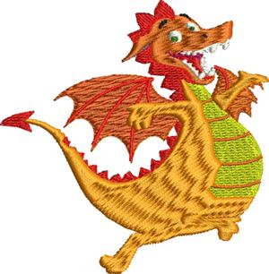 Happy dragon-Dragon, Happy dragon, machine embroidery, dragons, childrens dragon, baby dragon, animals