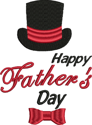Happy Fathers Day-Father, Fathers Day, Dad, Holiday, machine embroidery